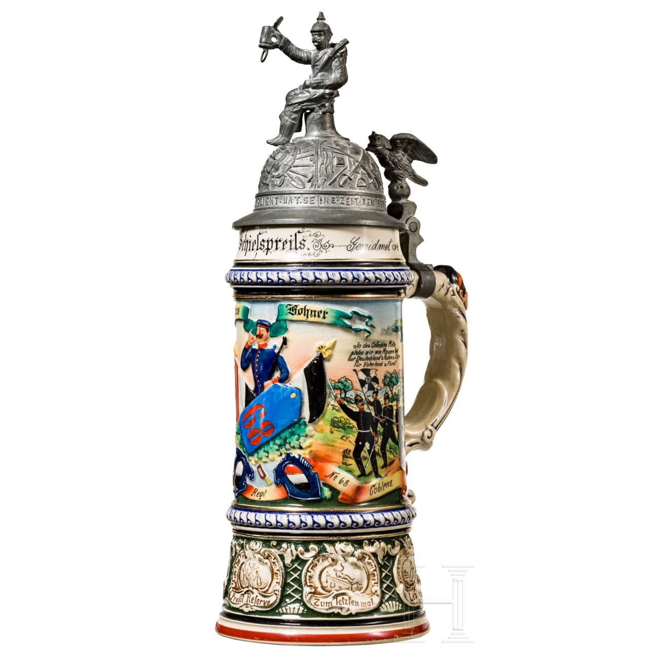 Jug as 1st shooting award of the 6th Rhenish Infantry Regiment No. 68