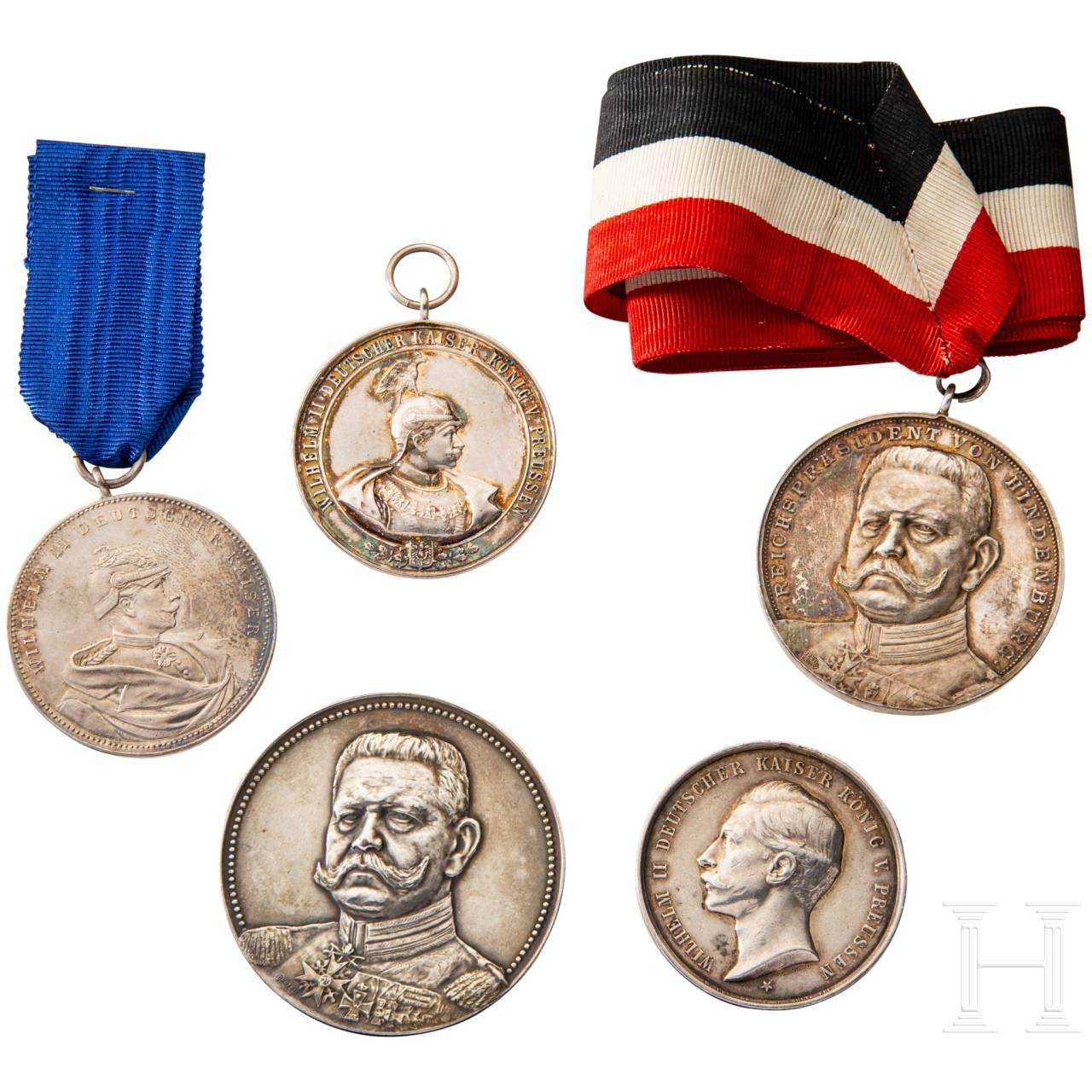 Five shooting prize medals