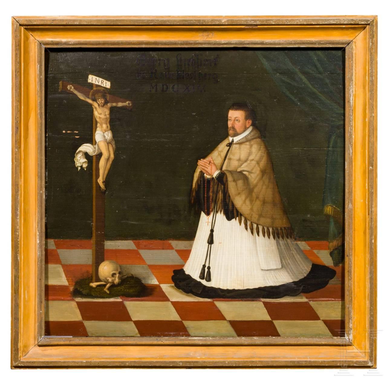A South German/Swiss donor's portrait of Georg Liebhart von Rauchlessperg, dated 1614