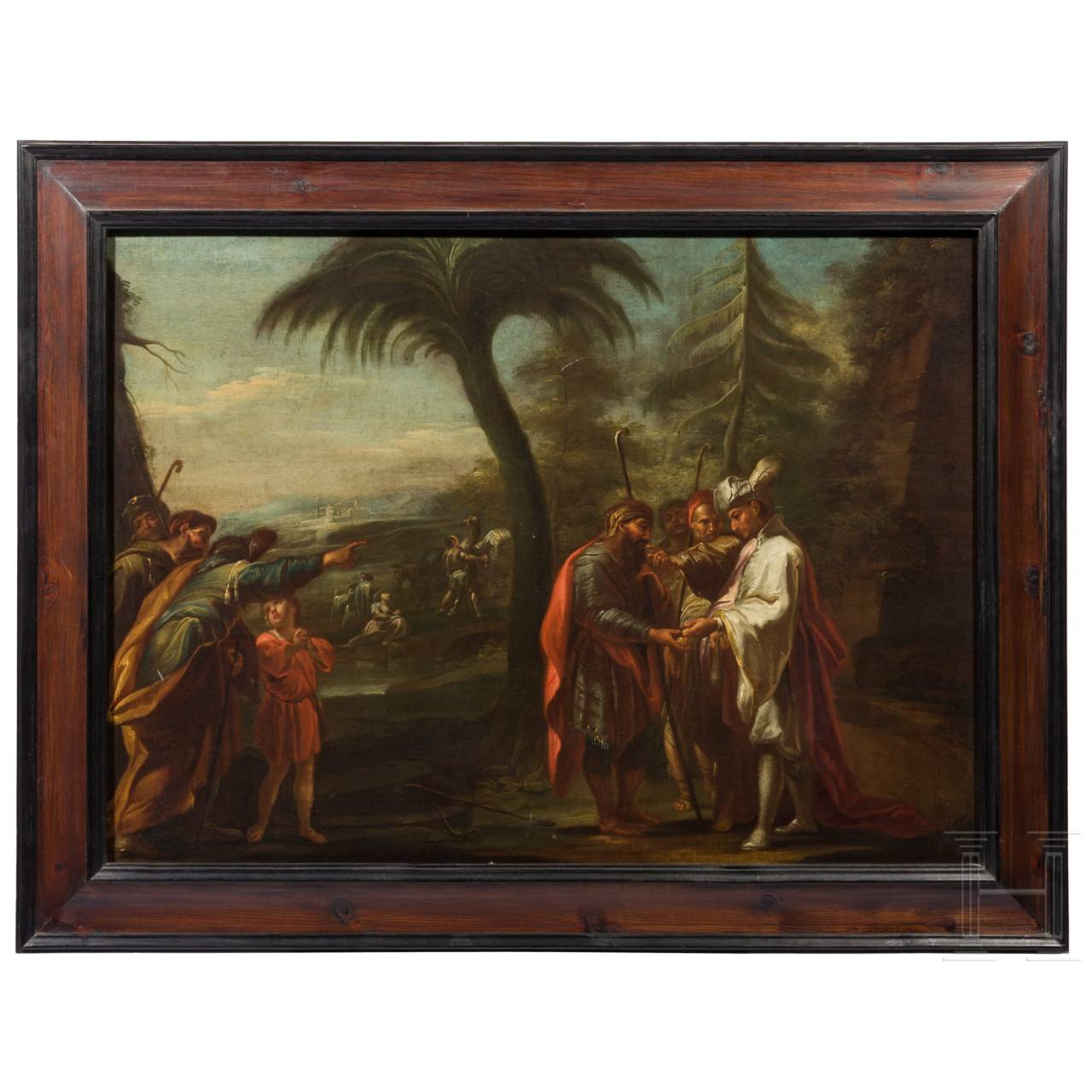 An Italo-Flemish Old Master of a southern landscape with figures, 17th century