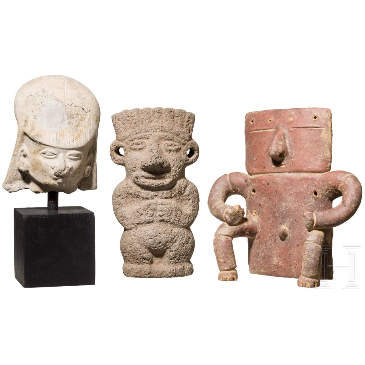 Three Central and South American figurines, circa 100 – 1500