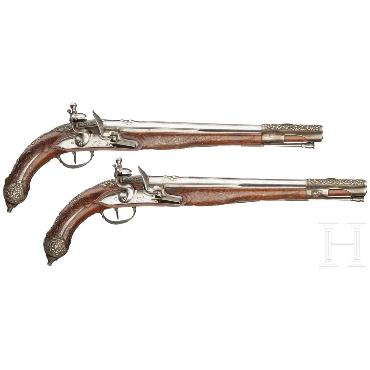 Ein Paar Steinschlosspistolen für den orientalischen Markt, Vigniat in Marseille, um 1810