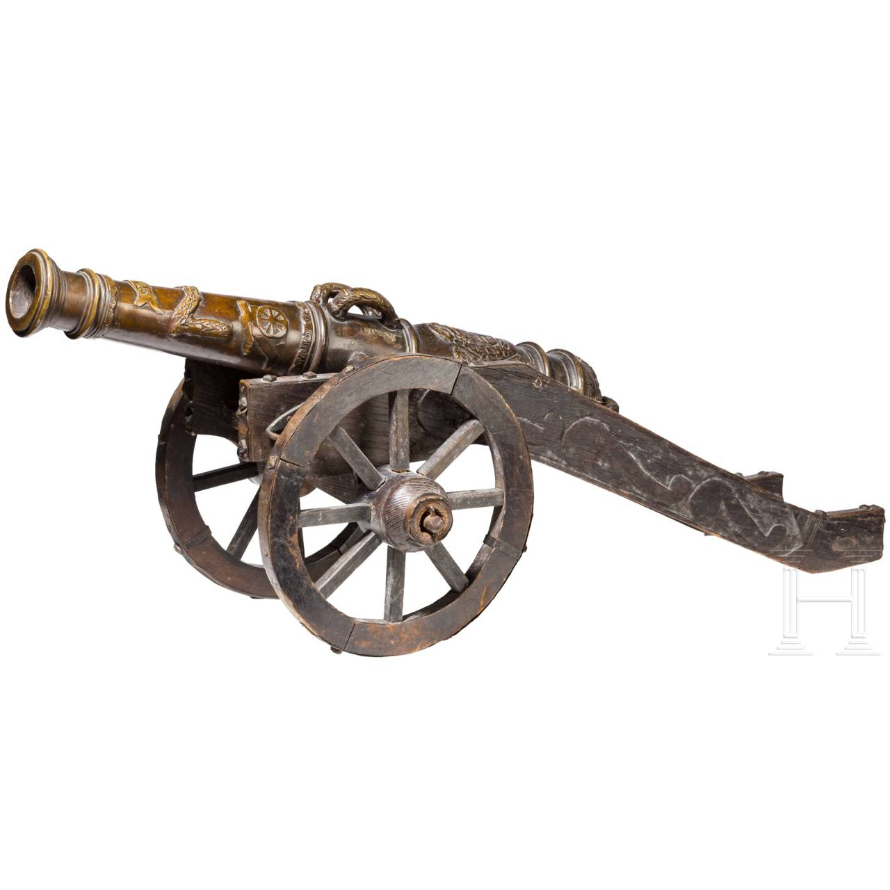 Model cannon, collector's replica in the style of the 16th century