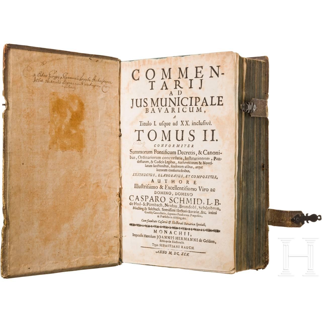 """Johannis Hermann, """"Commentarii ad Jus Municipale Bavaricum"""", München, 1645"""