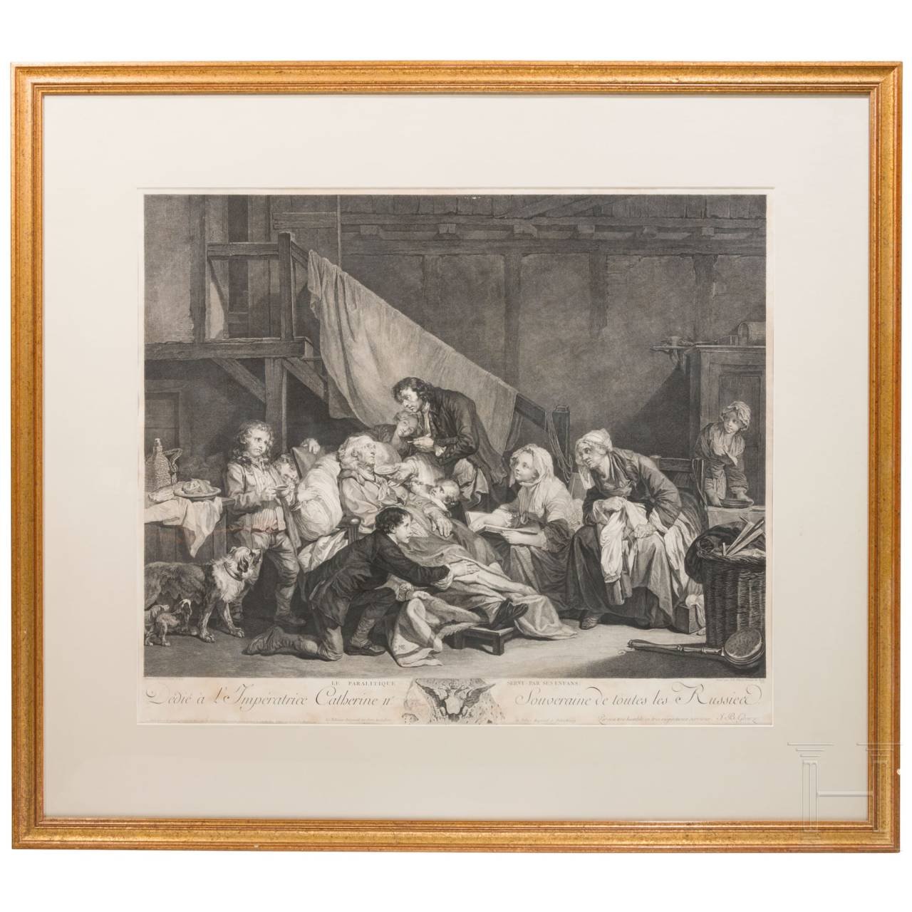 A set of four mostly French prints, 19th century