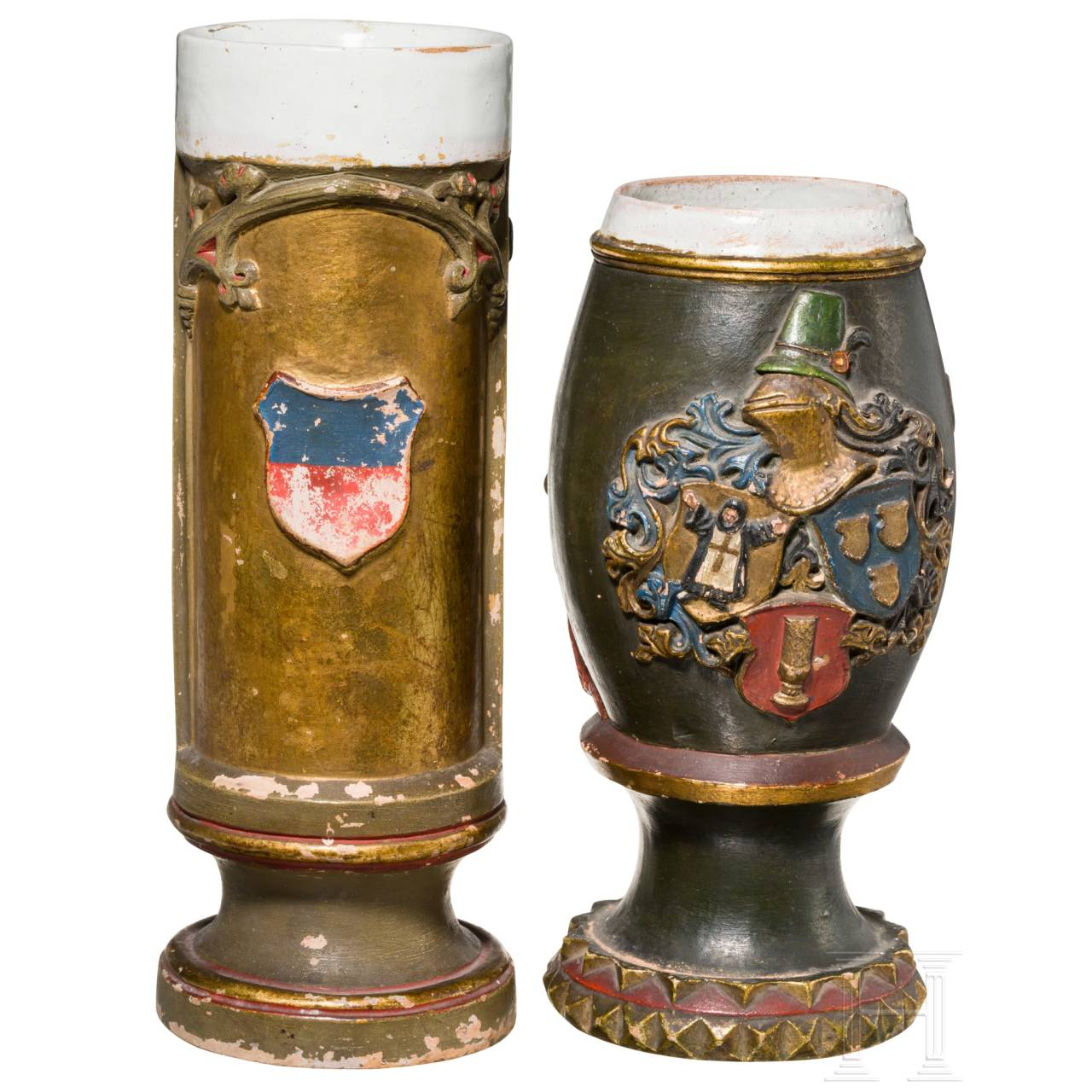 Two German historicism jugs, late 19th century