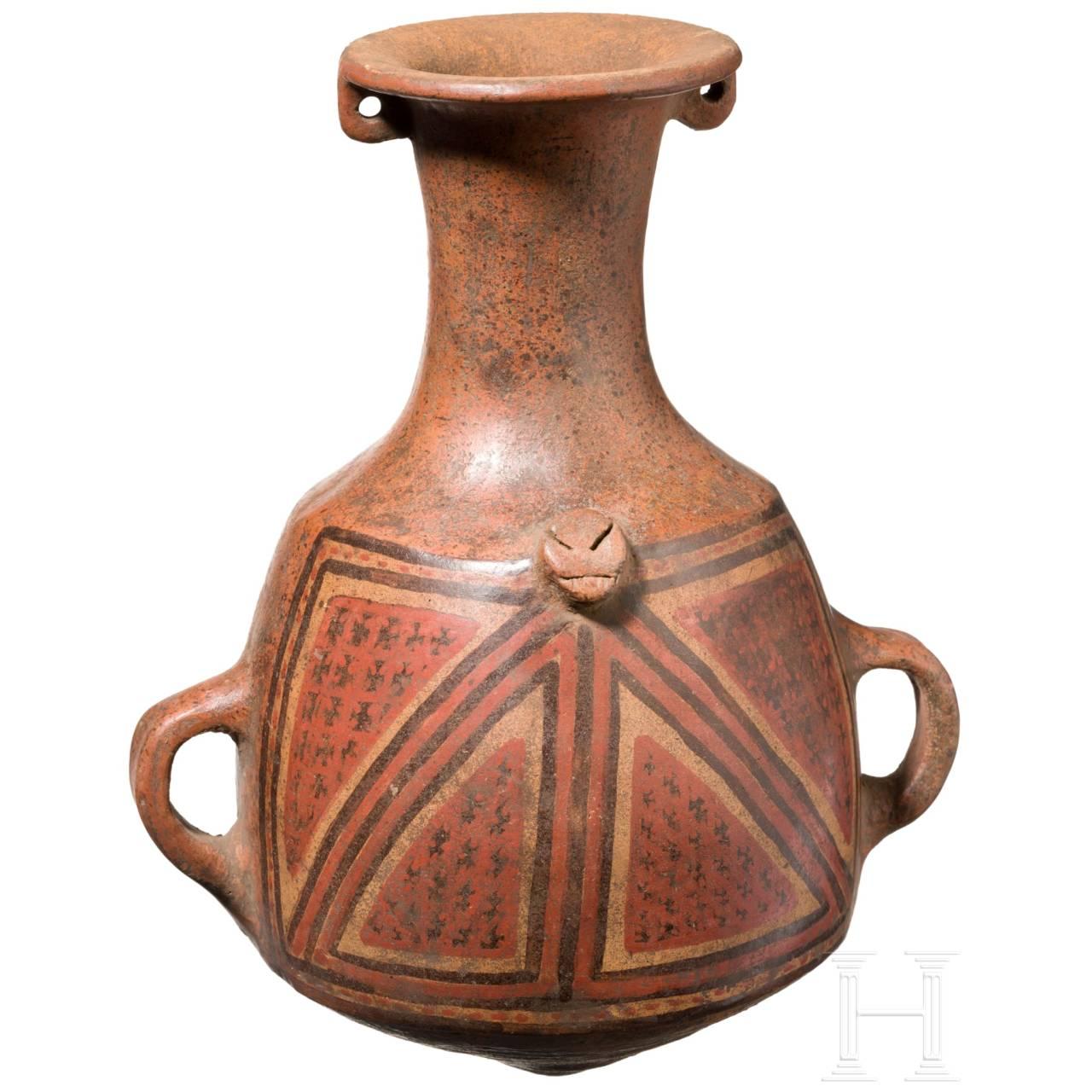Bauchige Ticachurana-Flasche, Inka, Peru, 15. – 16. Jhdt.