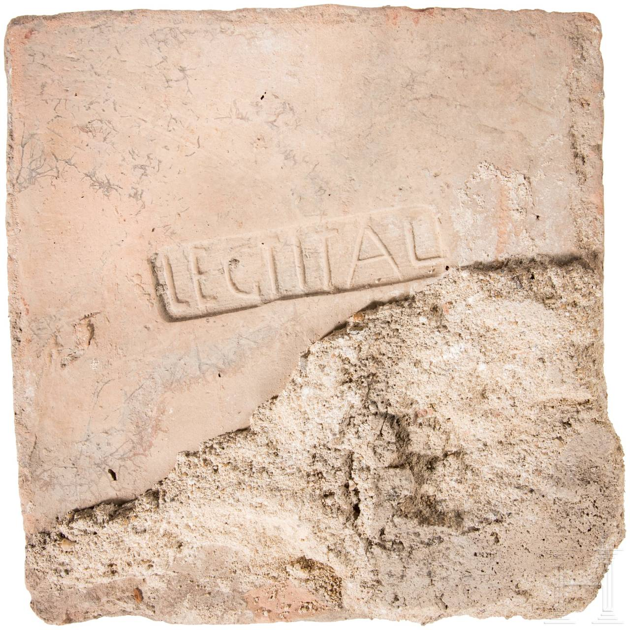 A Roman brick fragment with stamp of the 1st Legion Italica, end of the 1st - 4th century