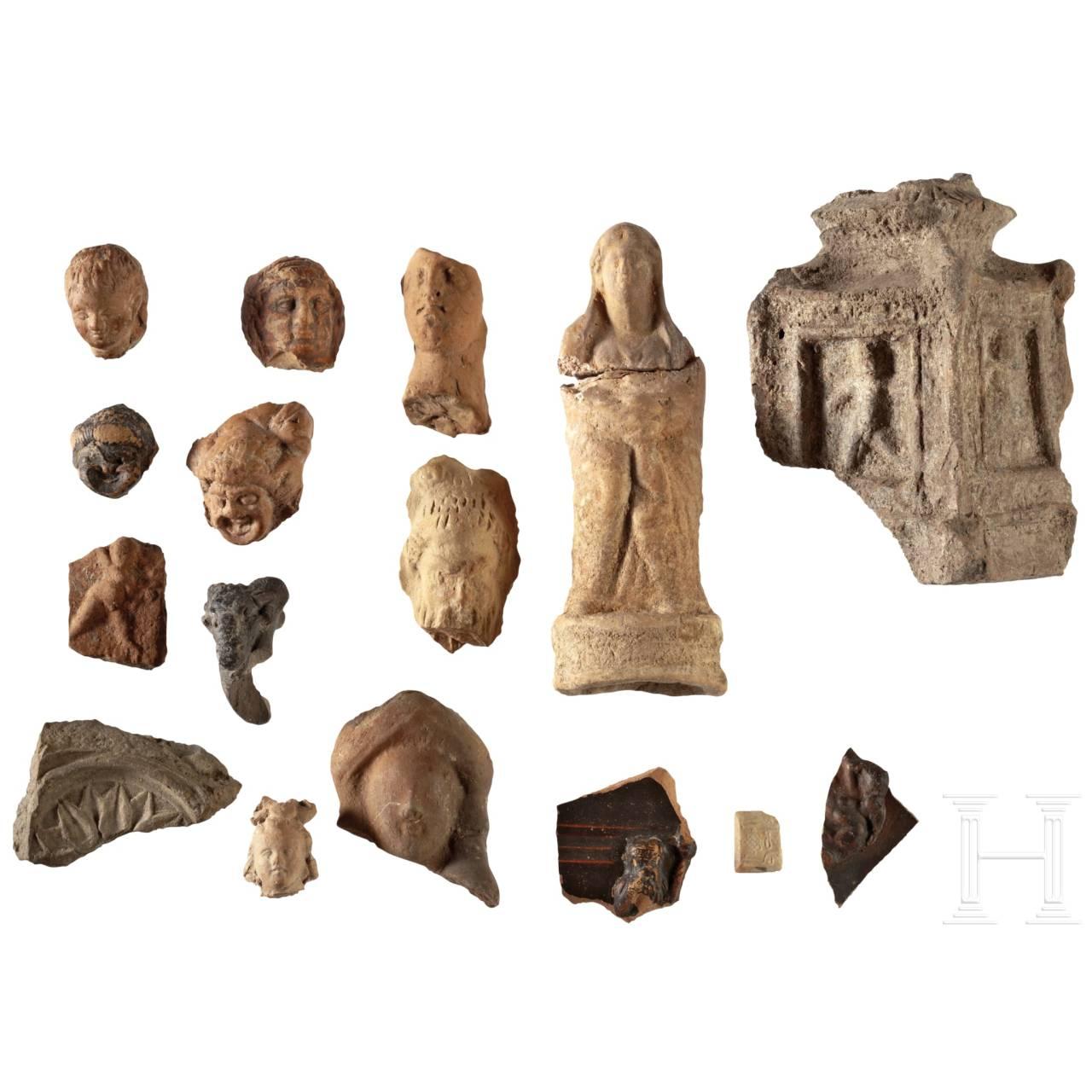 Sammlung von Figurenfragmenten, römisch und griechisch, 4. Jhdt. v. Chr - 3. Jhdt. n. Chr.