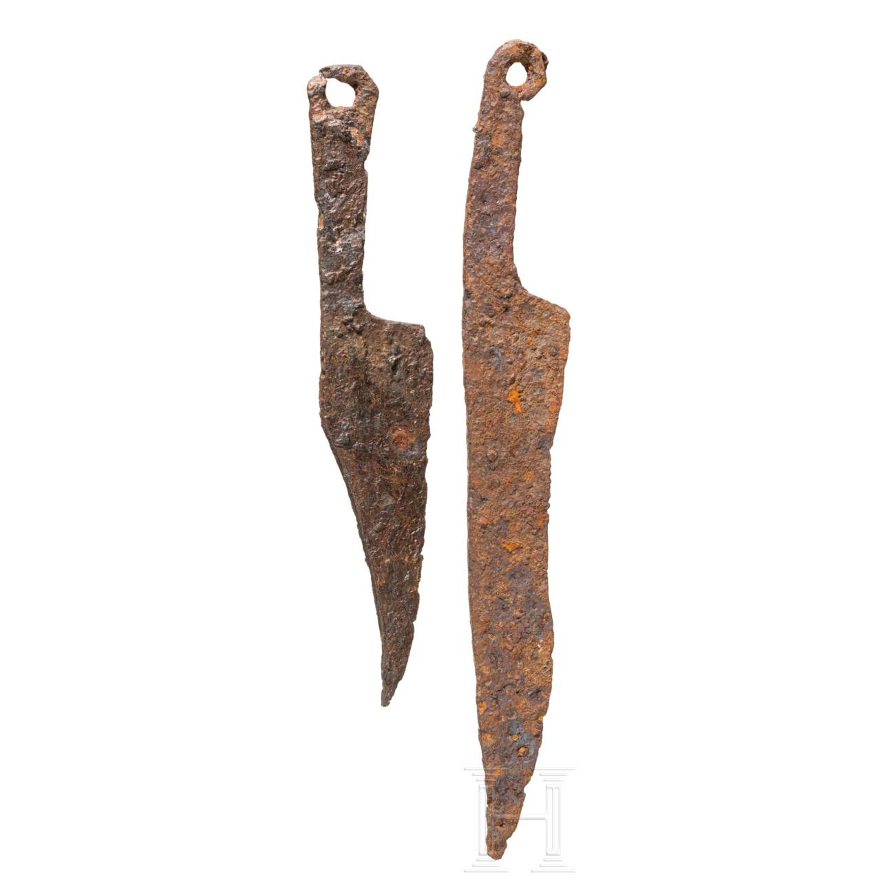 Two Celtic knives, 2nd - 1st century B.C.