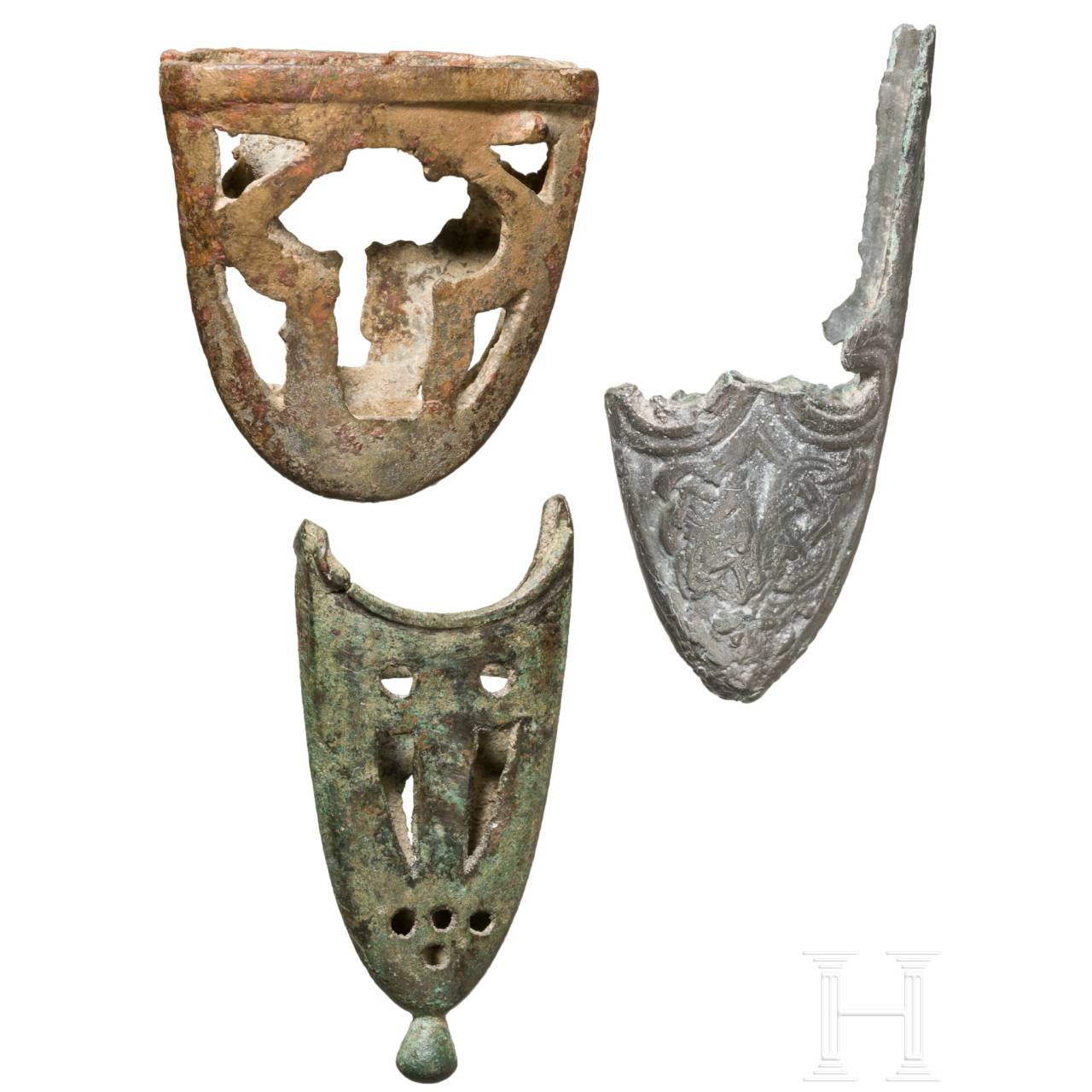 Three Northern and Central European chapes, 10th century