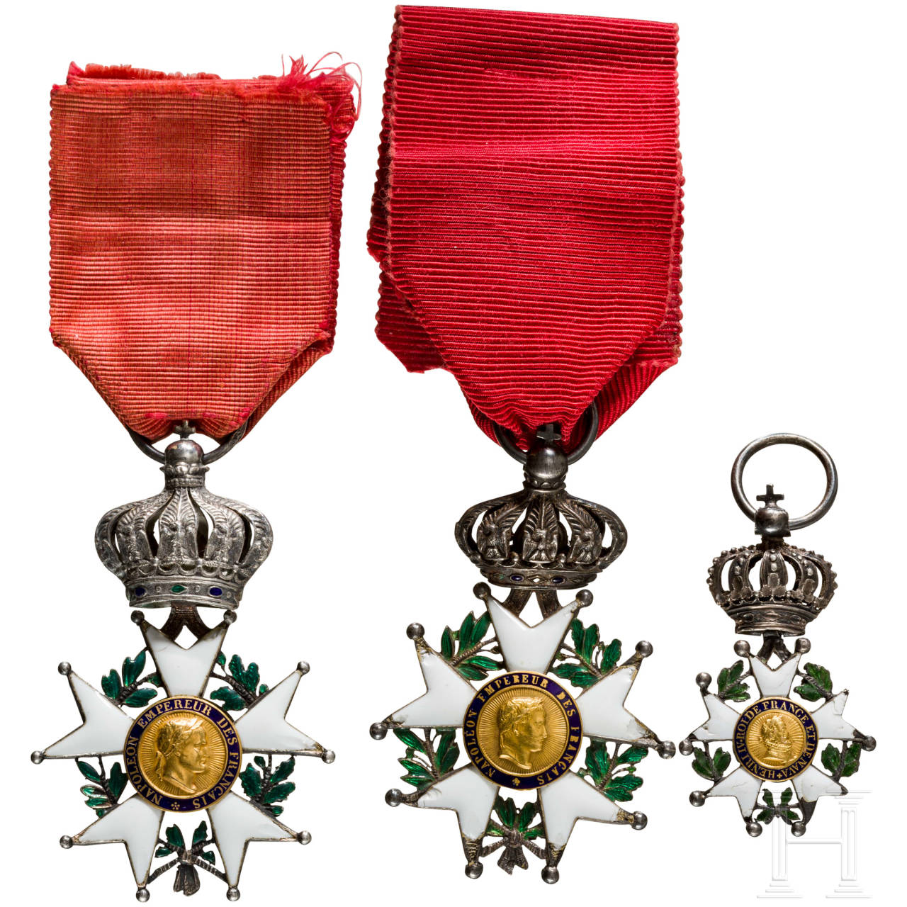 Three Orders of the Legion of Honour, 19th century