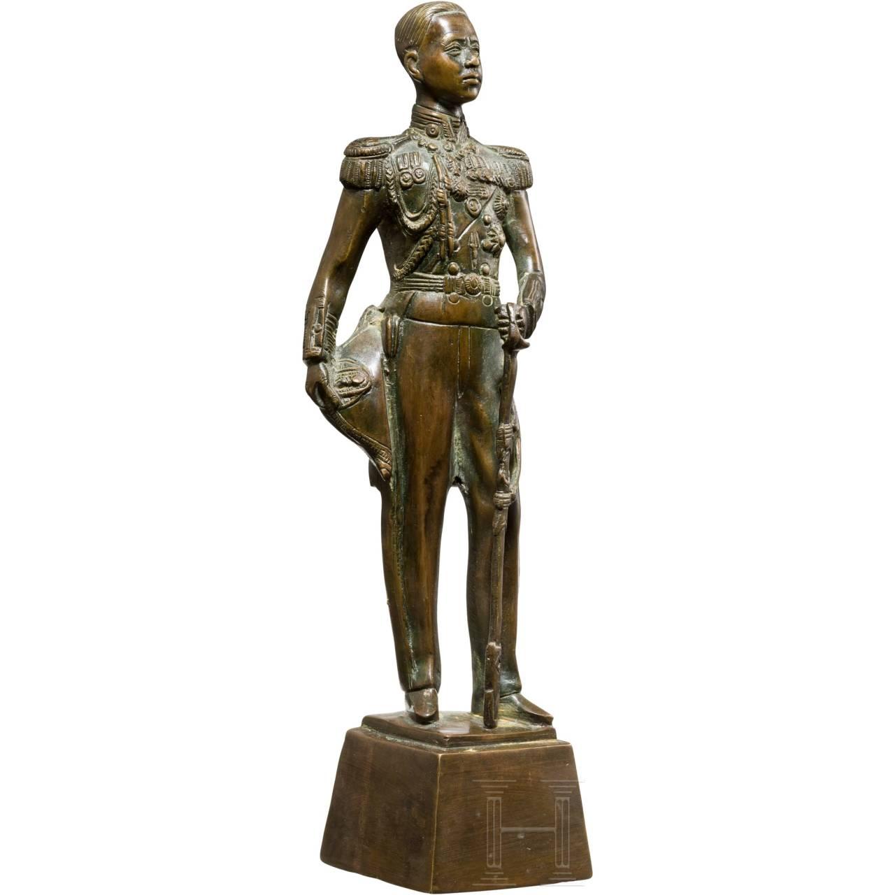 A bronze figure of Prince Chumphon/Sadej Tia (1880 - 1923), Siam, circa 1920
