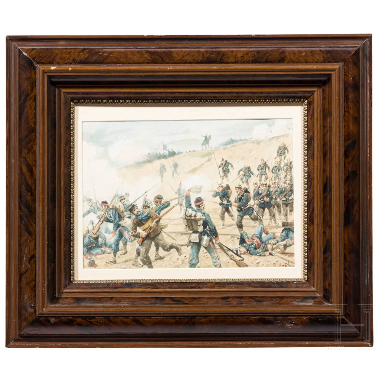 "Richard Knötel (1857 - 1914) - a watercolour ""The Baden soldiers at Nuits on 18 December 1870"