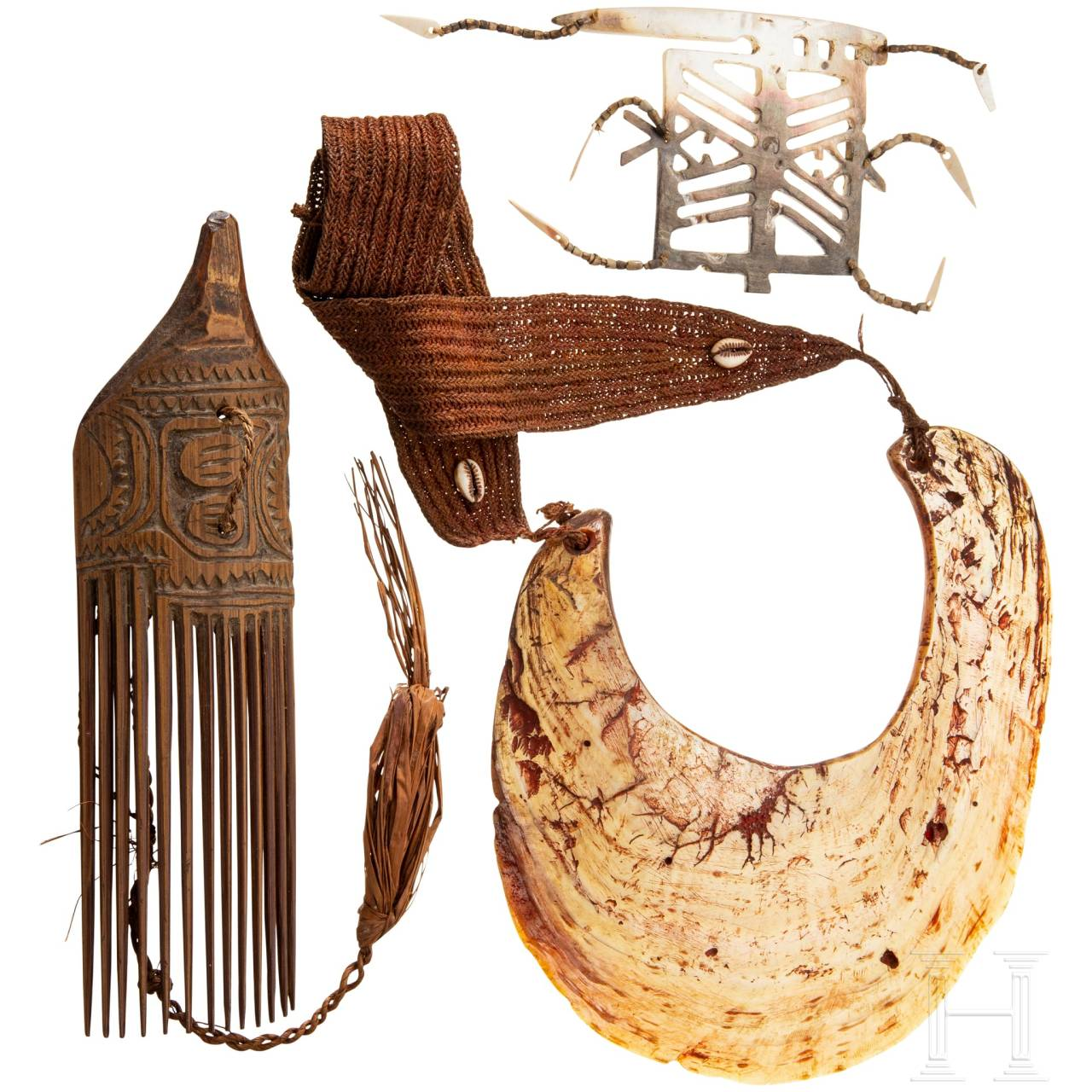 Three pieces of jewellery, Papua New Guinea