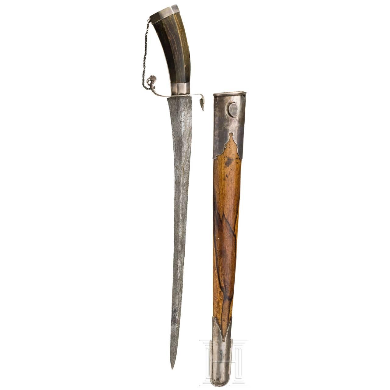 Silbermontiertes Pedang, Sumatra, 19. Jhdt.