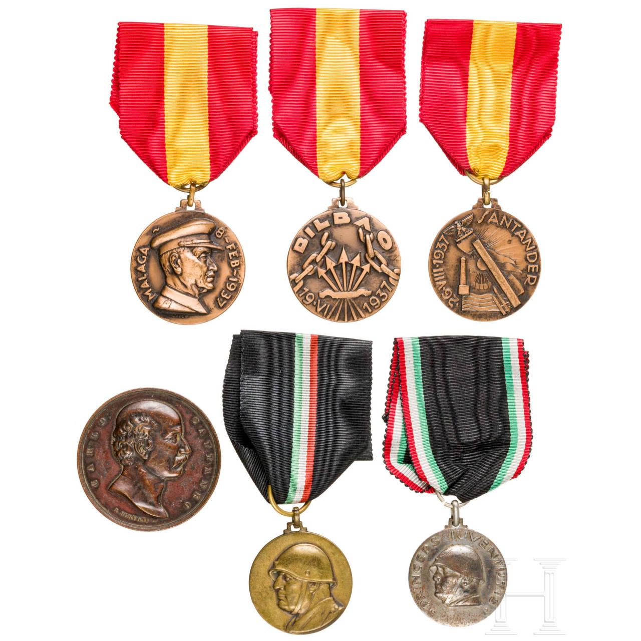 Six Spanish/Italian medals