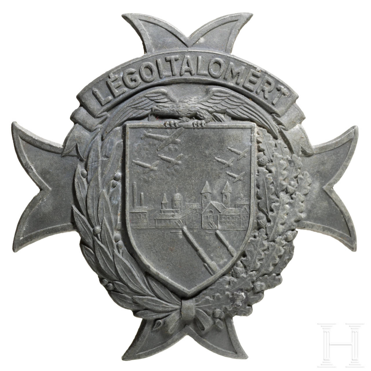 "Flak battle badge ""Légoltalomért"", Hungary, 1940s, World War II"