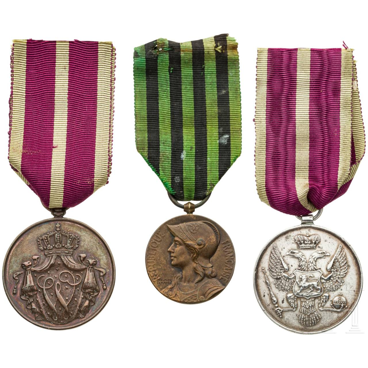 Three international medals, 19th and 20th centuries