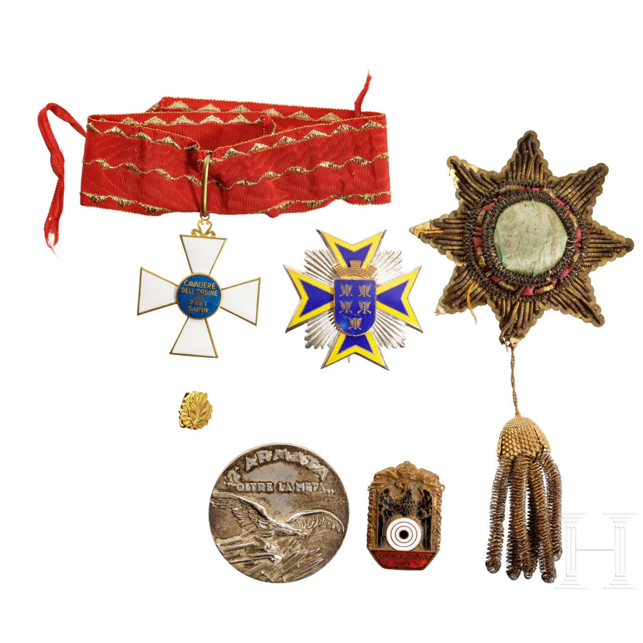 A group of international awards, Europe, 1st half of the 20th century