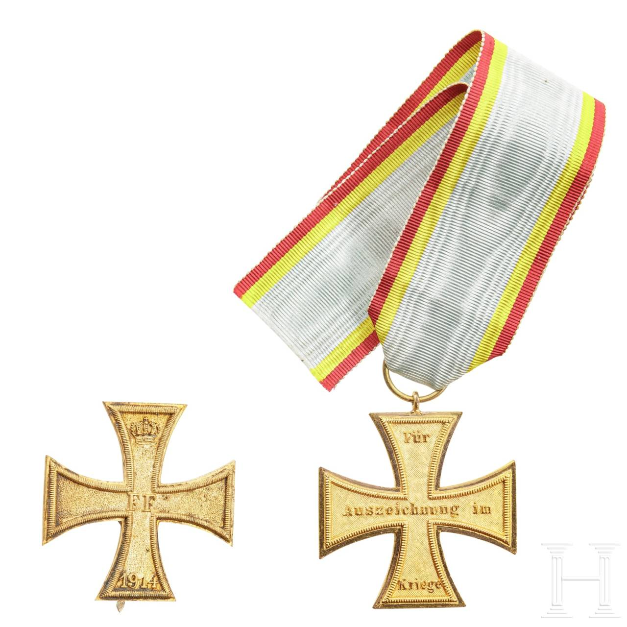 Mecklenburg-Schwerin - a military merit cross 1st and 2nd class, 1914