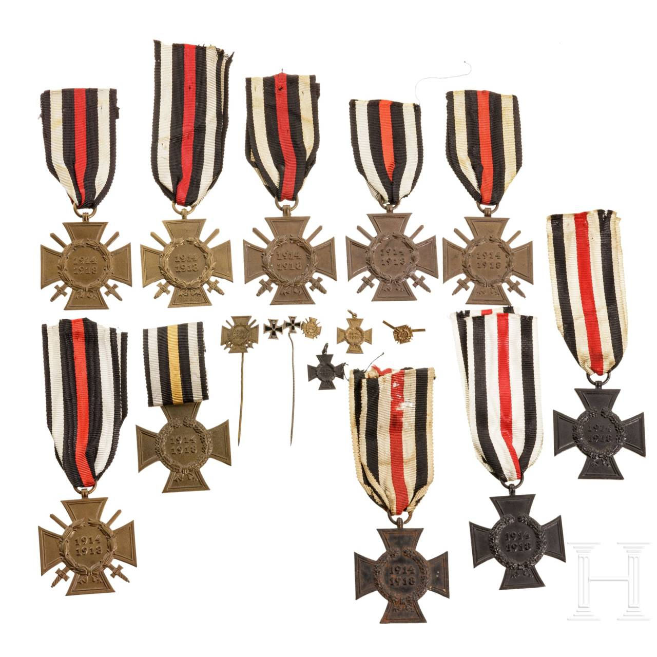 Ten Prussian honour crosses for front fighters, 1914 - 1918