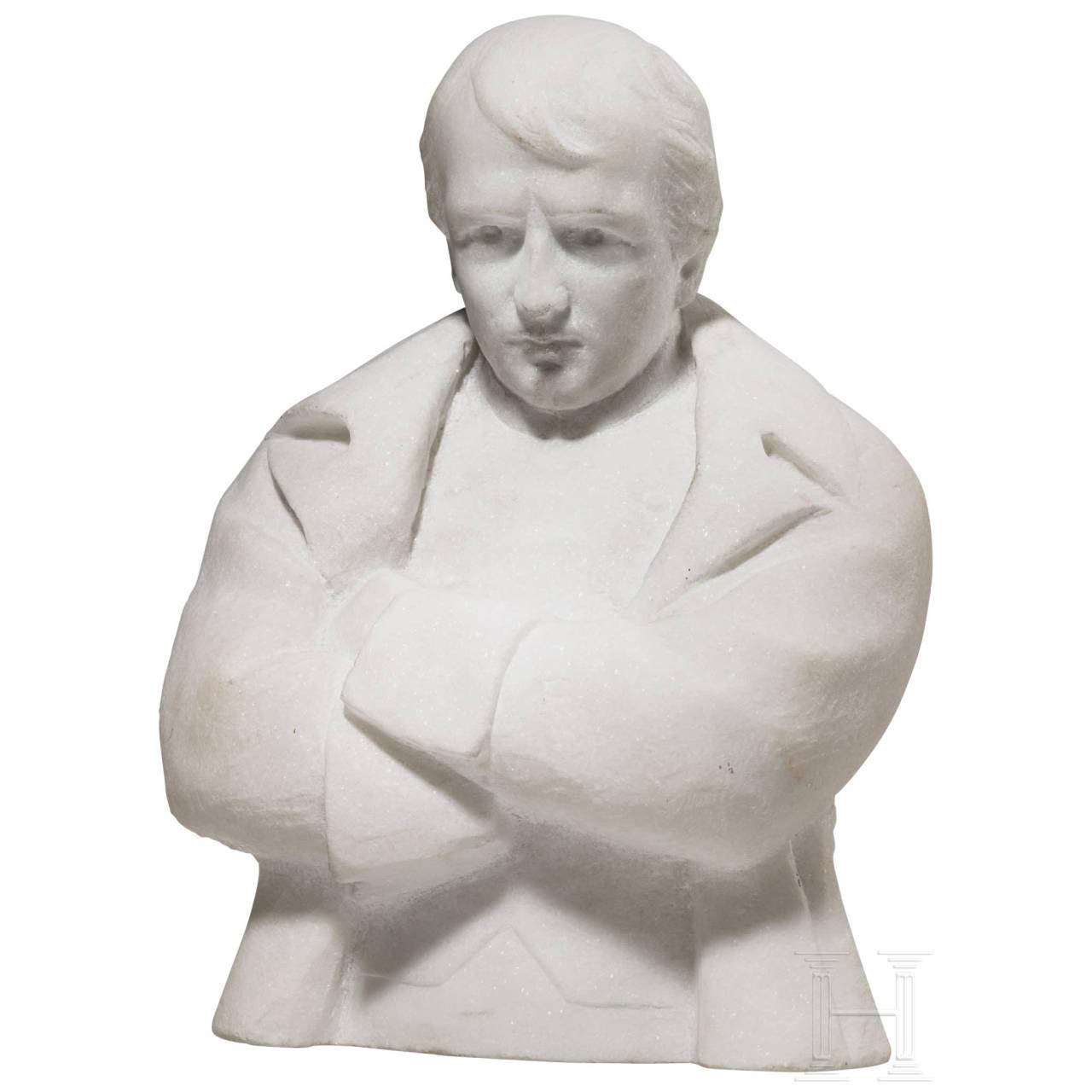 Heavy marble bust of Napoleon Bonaparte, 20th century
