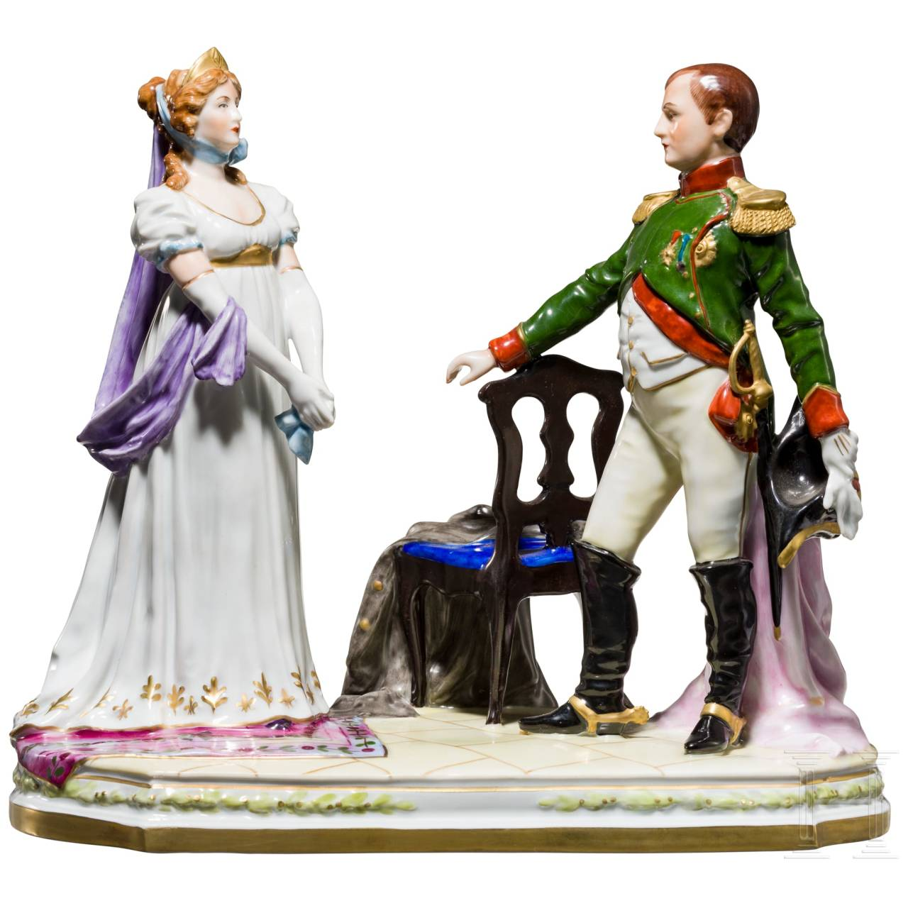 Emperor Napoleon I and Empress Josephine, Scheibe-Alsbach porcelain manufactory, 20th century