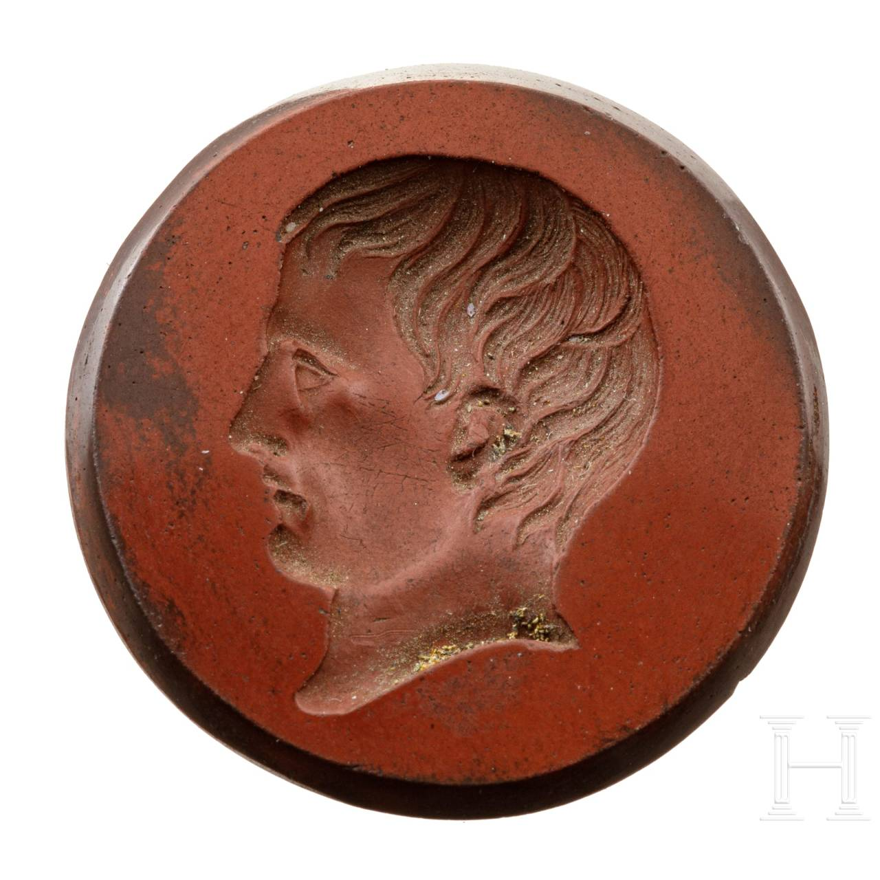 A gem stone with the profile of Napoleon Bonaparte, 19th century