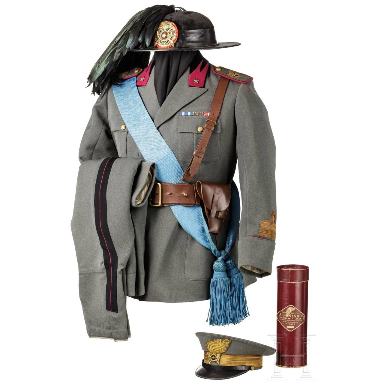 Uniform M 34 eines Oberstleutnants der Bersaglieri