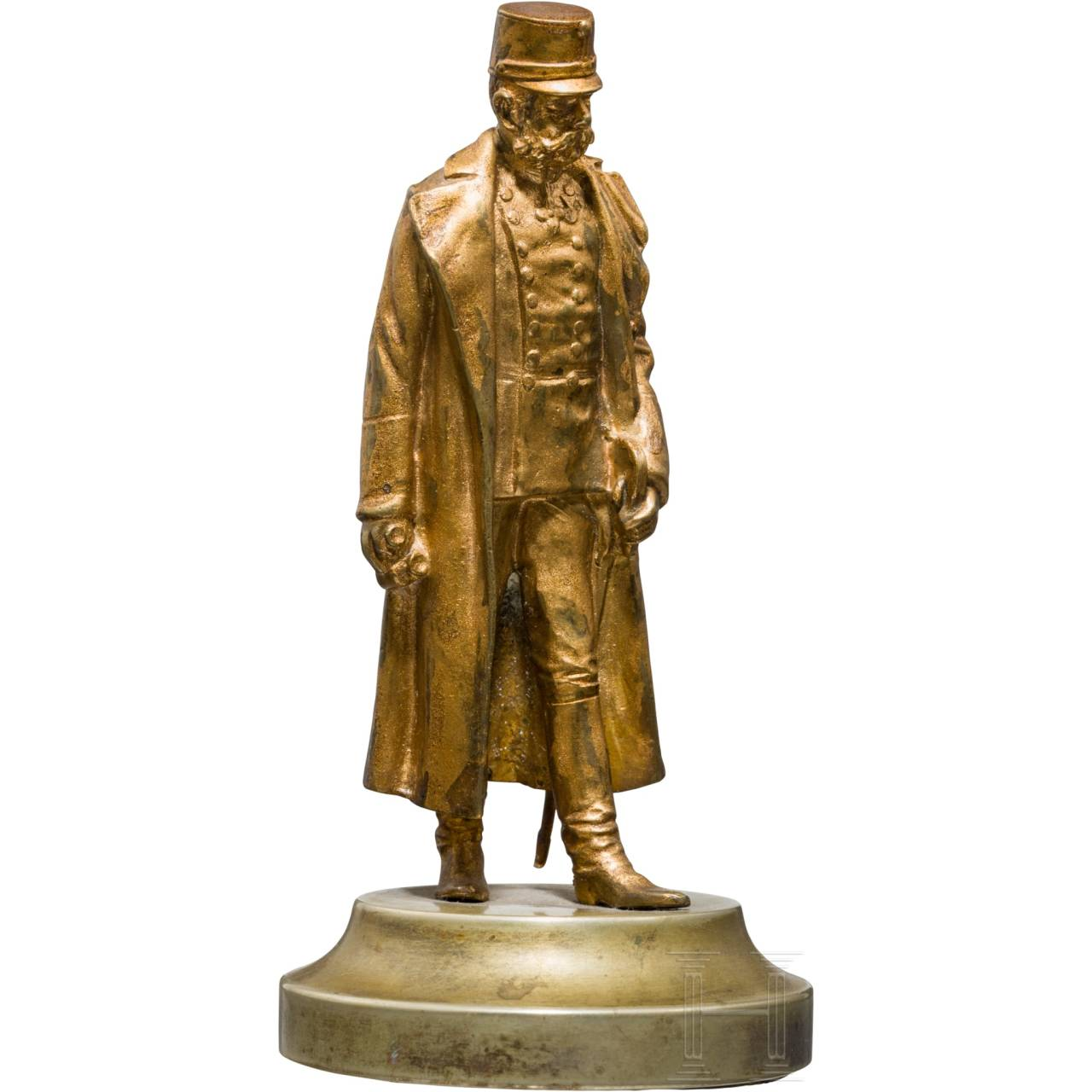 Emperor Franz Joseph I. of Austria - small, gilded bronze bust