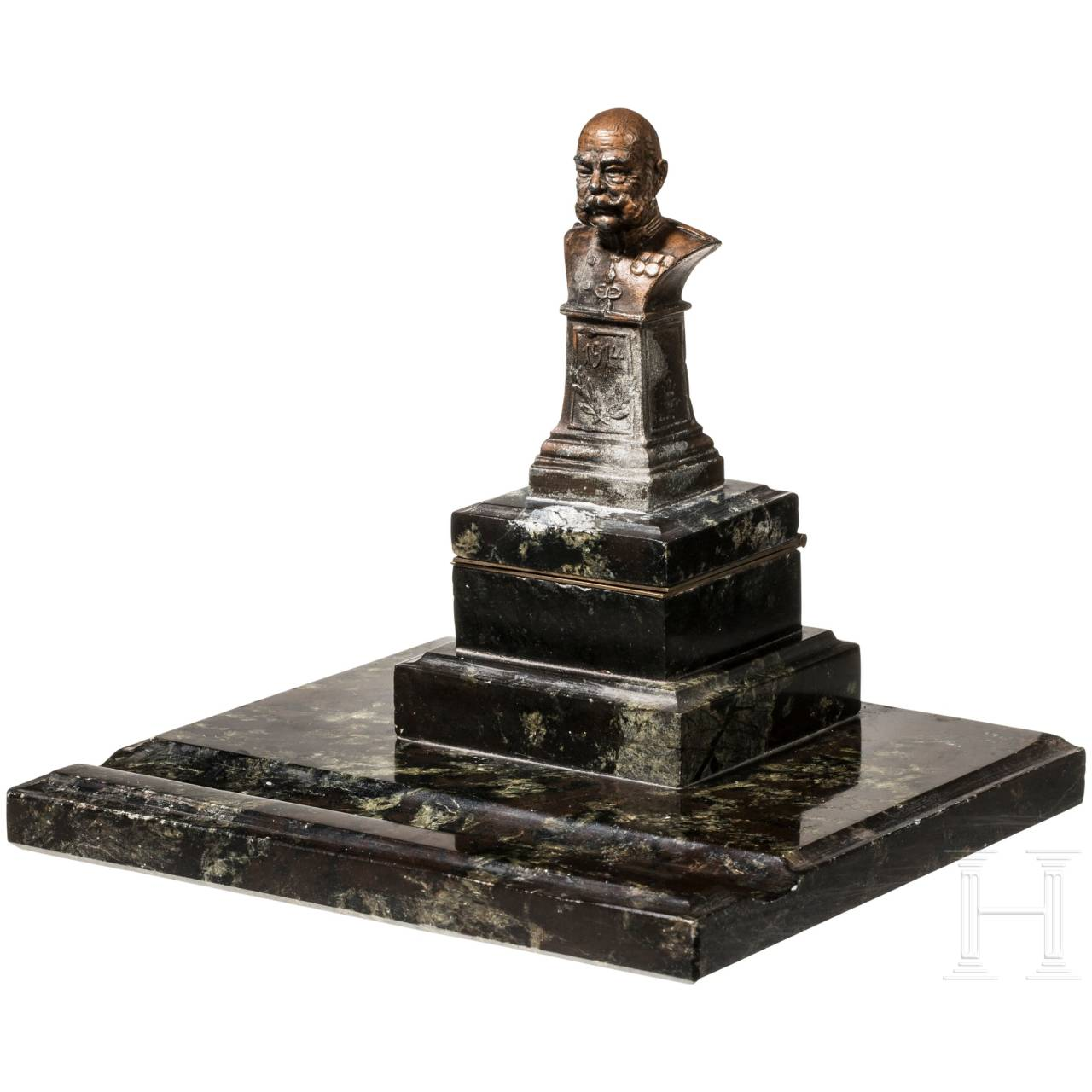Emperor Franz Joseph I of Austria - desk set with small emperor bust