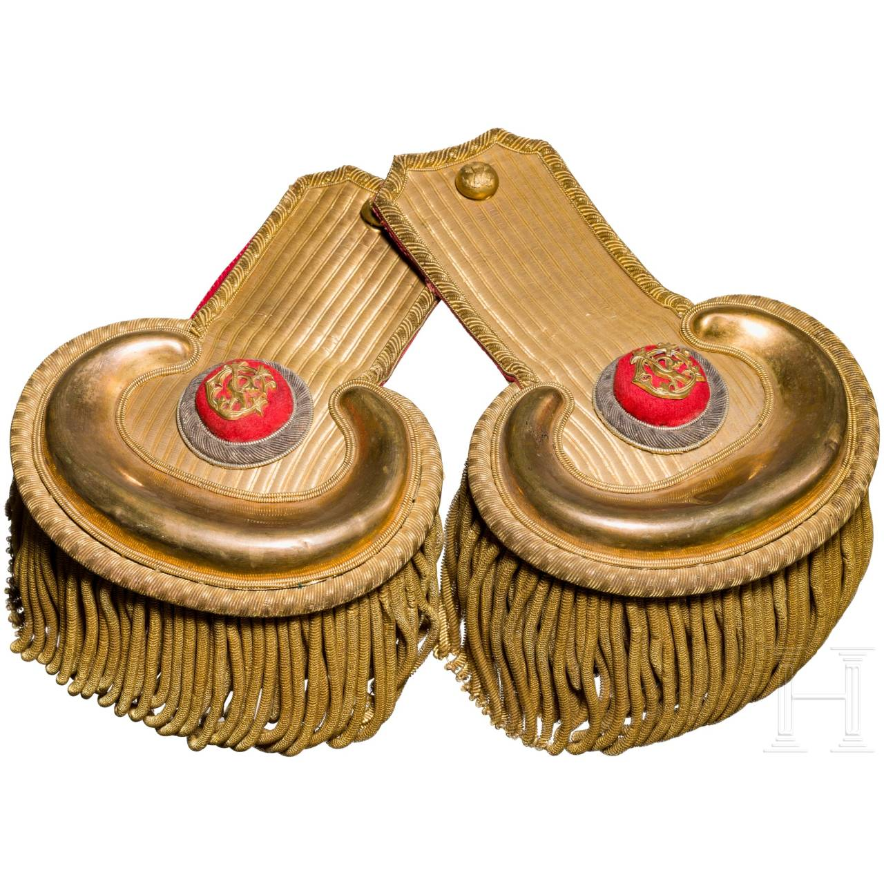 A pair of 19th century U.S. Army officer's epaulettes