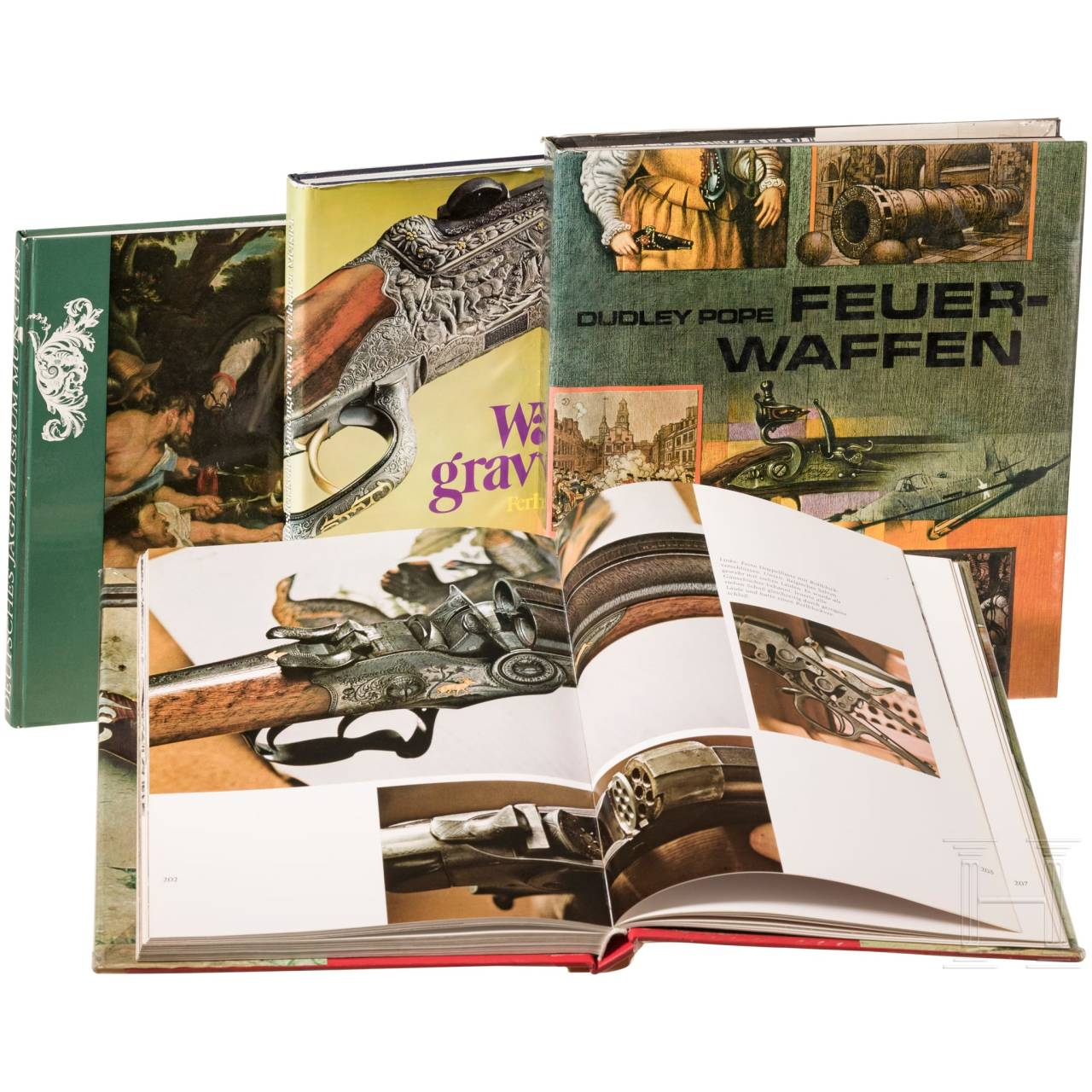 Four books on firearms