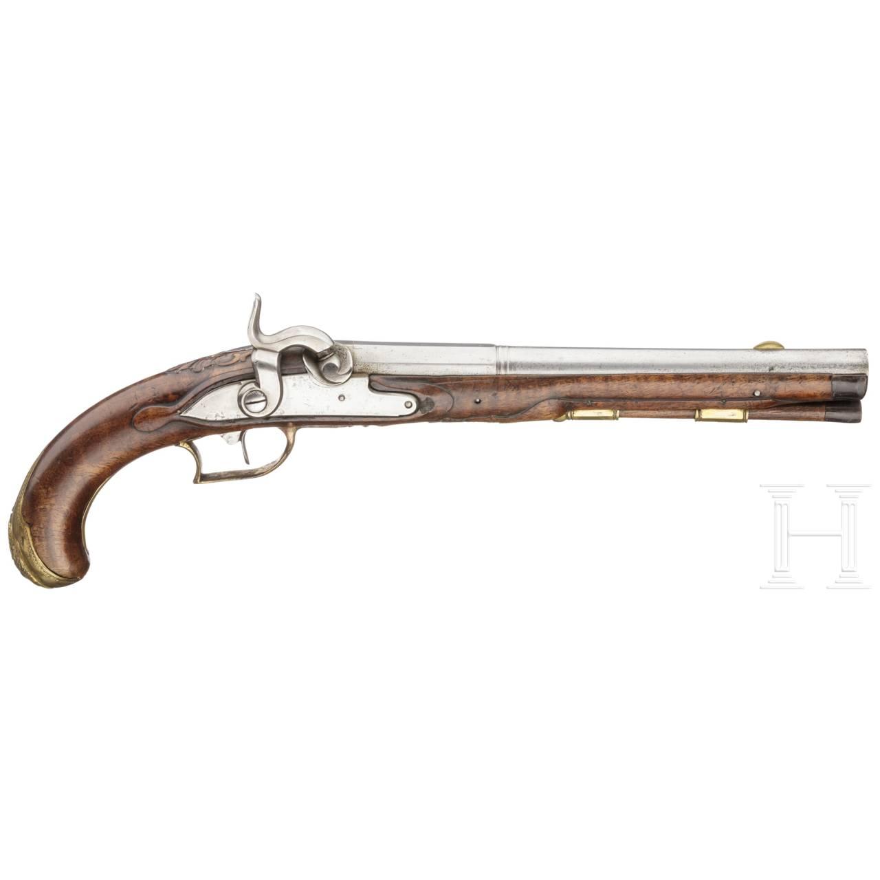 Perkussionspistole, deutsch, um 1760