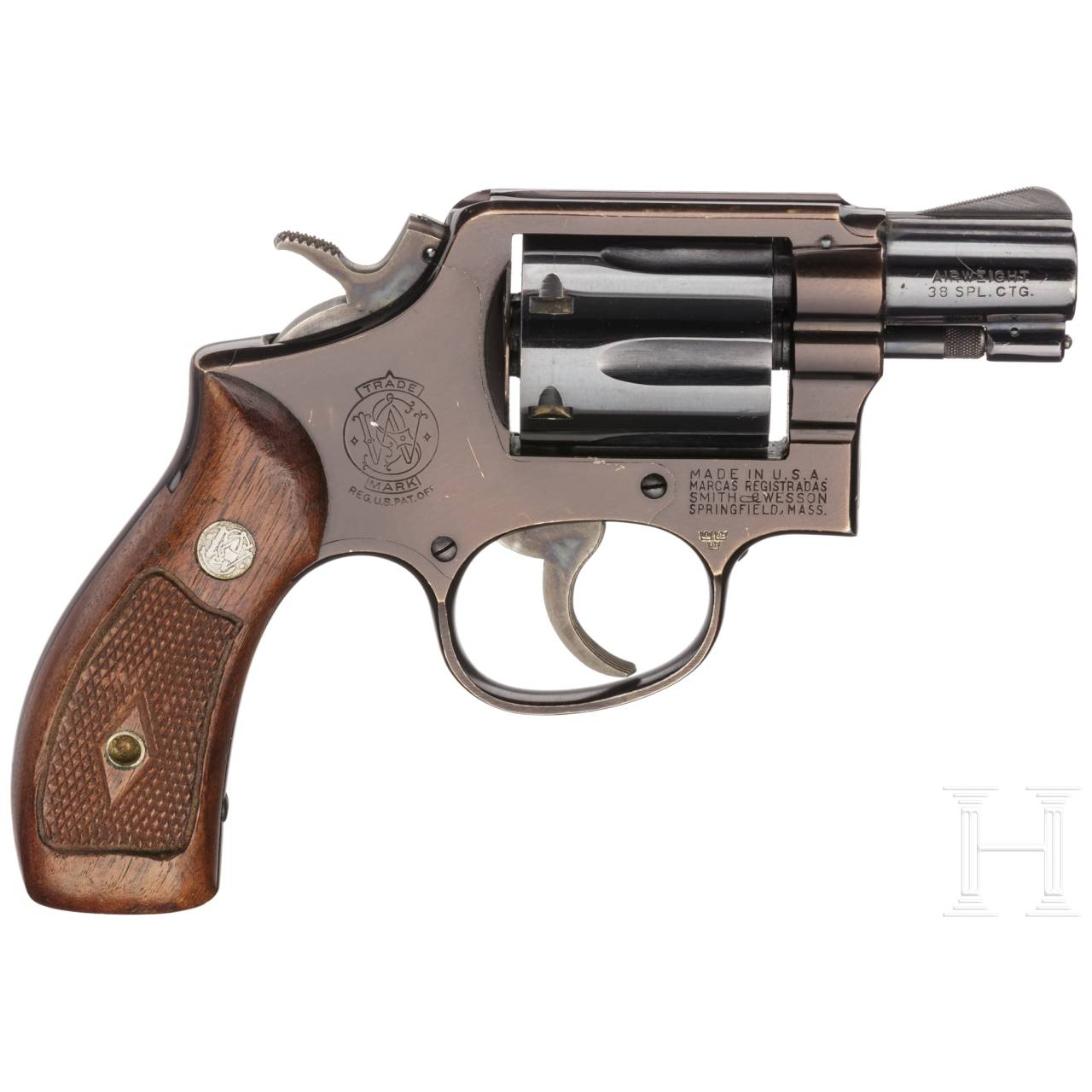 """Smith & Wesson Mod. 12, """"The .38 M & P Airweight"""", Luftwaffe, mit Holster"""