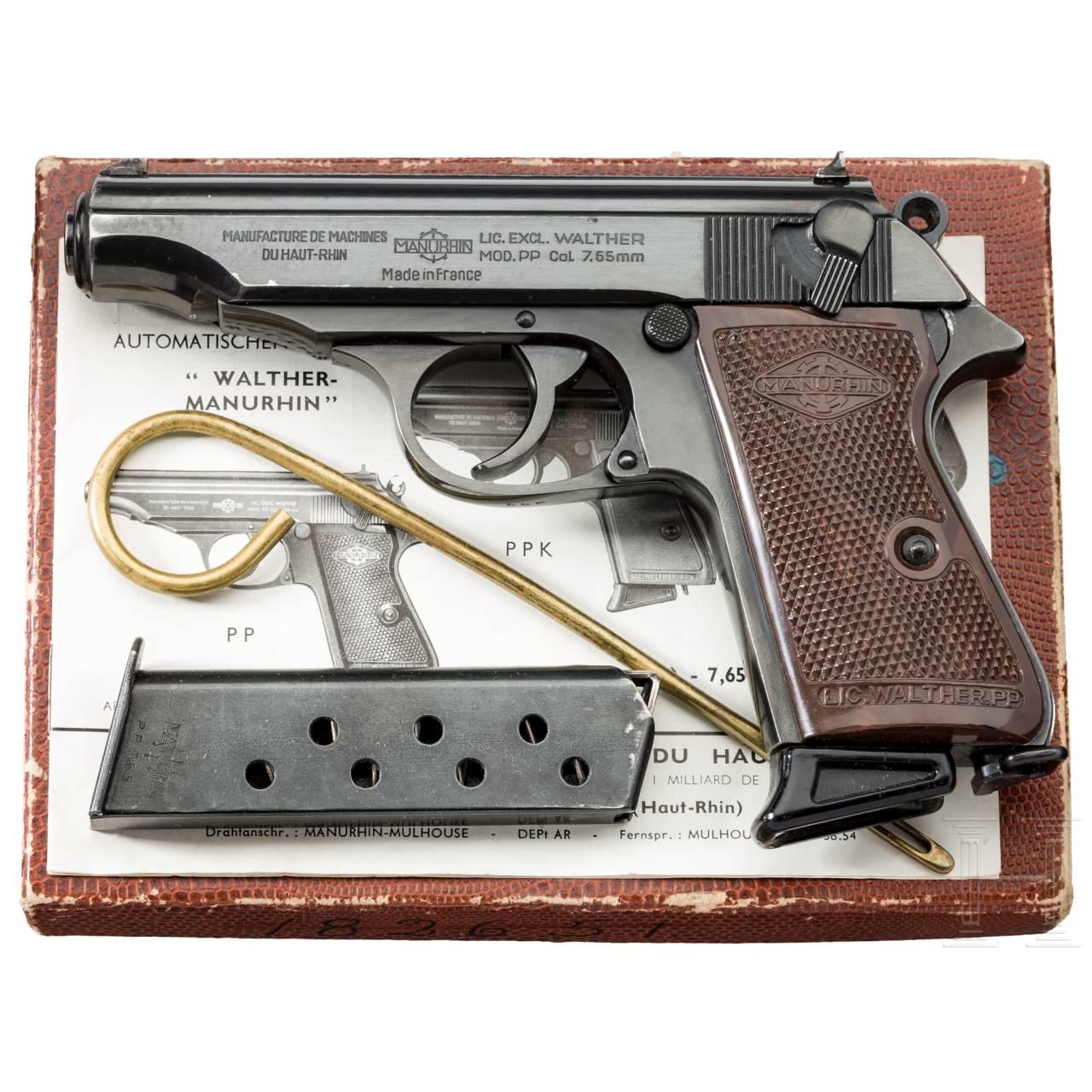 Walther-Manurhin PP, im Karton, Behörde