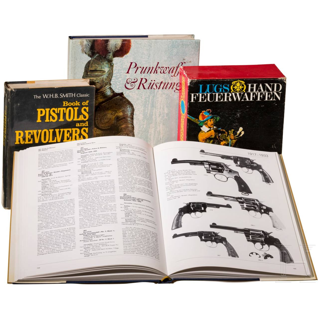 Four books on firearms and arms and armour