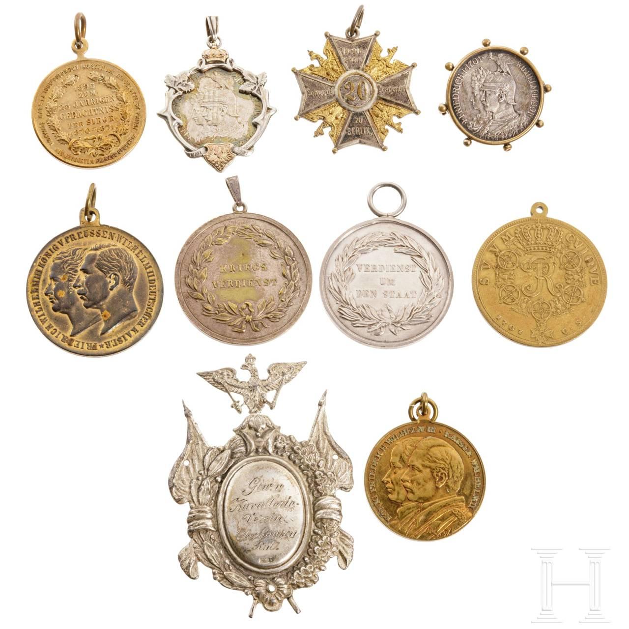 Zehn Auszeichnungen, Preußen, 1707 - 1918