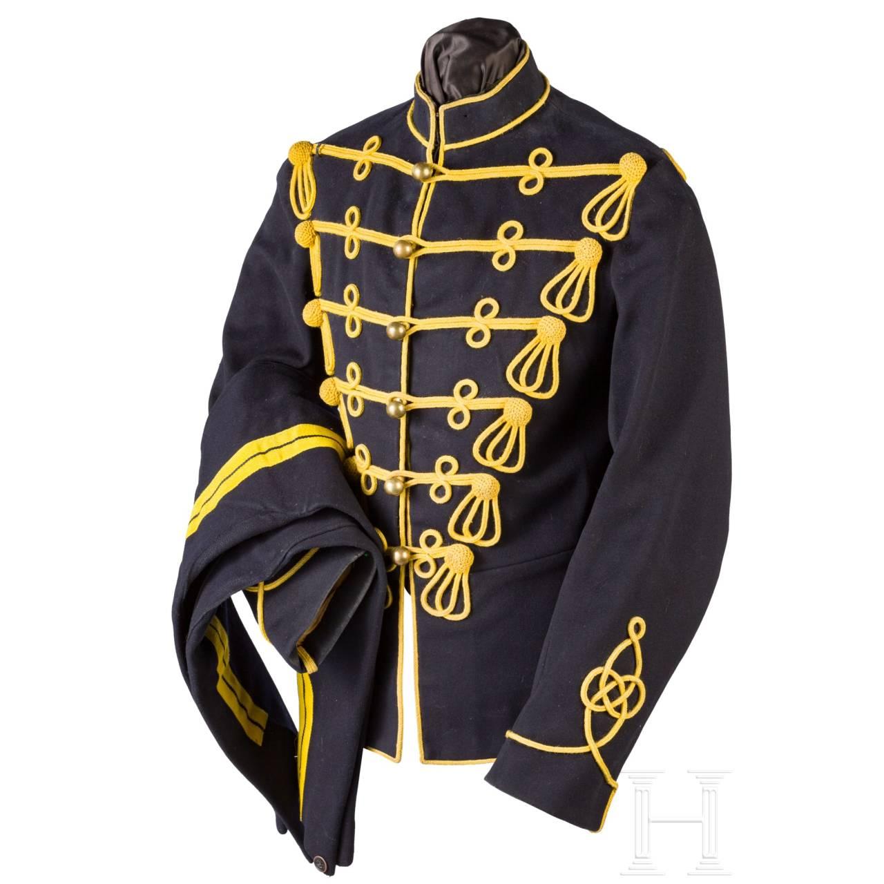 Uniform für einen Kavalleristen der irischen Husaren, Anfang 20. Jhdt.