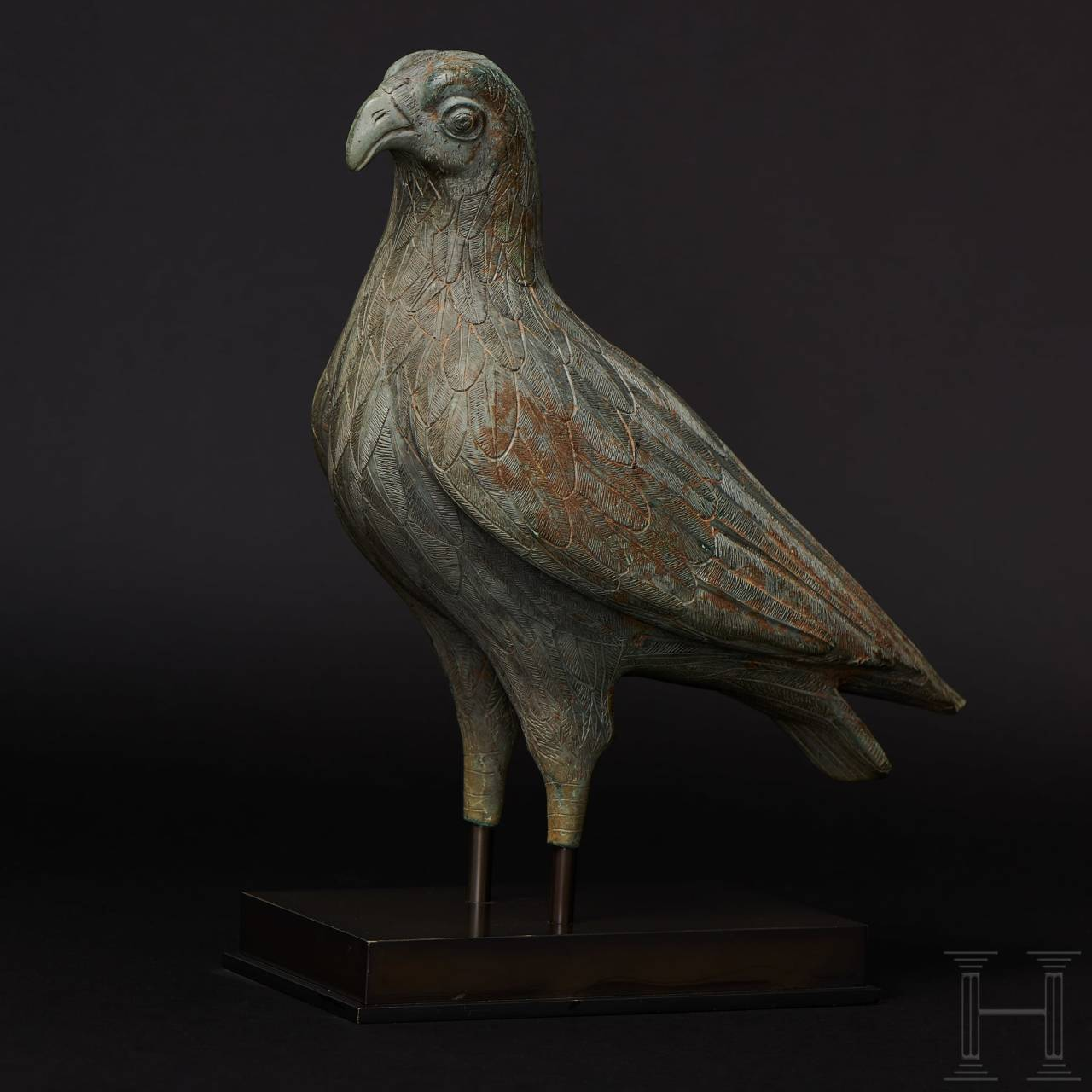 A Greek bronze eagle of unusual stature with exceptionally fine craftsmanship, possibly early classical (early 5th century B.C.) or late Hellenistic (1st century B.C. – 1st century A.D.)