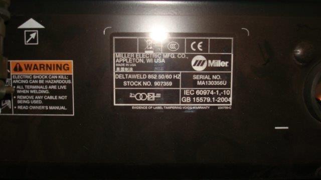 Miller Deltaweld 852 850AMP Mig Welder on Auction Now at