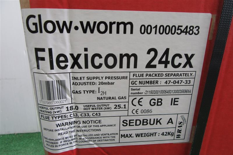 GLOWWORM Flexicom 24cx Combi Boiler on Auction Now at BPI