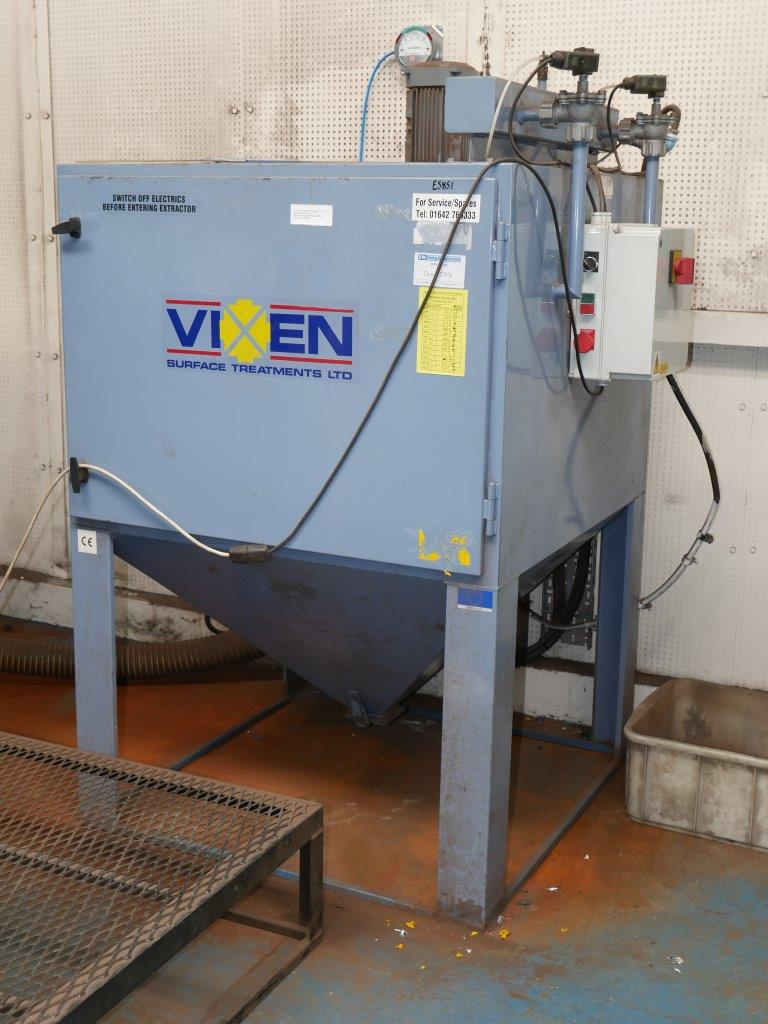Lot 11: Vixen JetAir Shot / Bead Blast Cabinet With Extractor U0026 Recovery  Unit