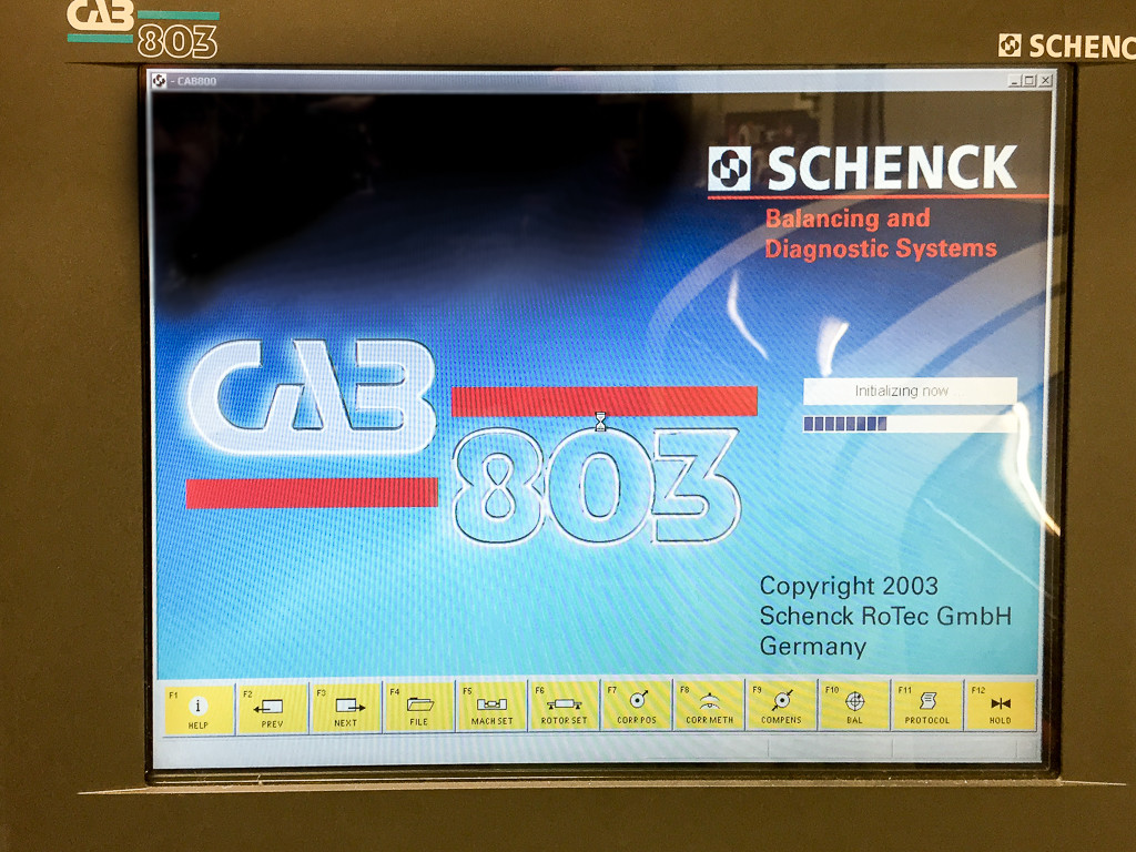 Schenck (2004) Model HL2B Horizontal Balancing Machine with Schenck CAB 803  Control on Auction Now at Apex Auctions (US)