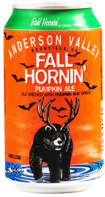 Anderson valley fall hornin pumpkin ale