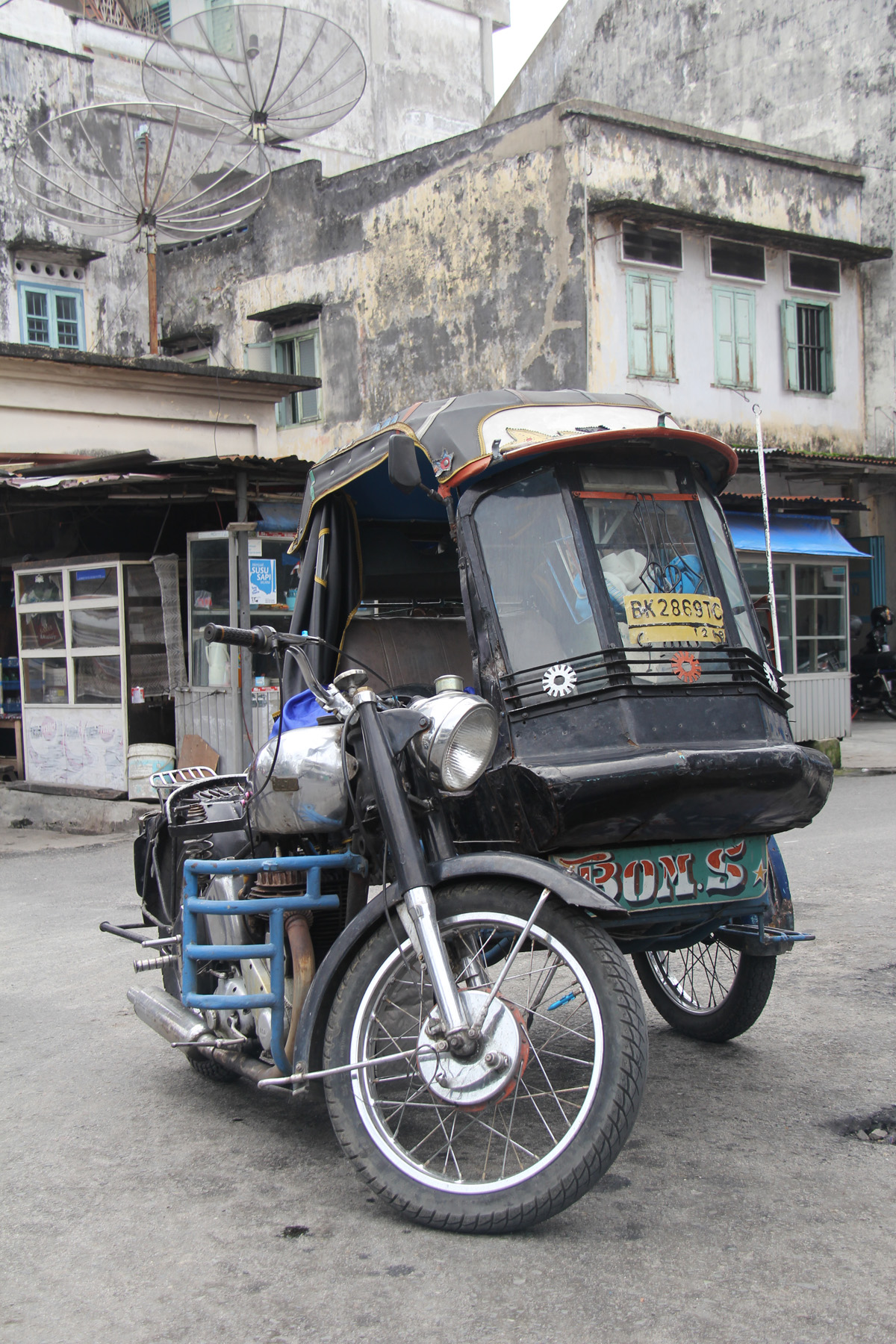 Becak motor Pematang Siantar