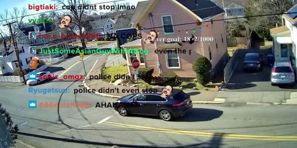 A screenshot of the stopsigncam stream.