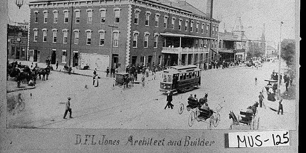 Historic photo of Springer Opera House.