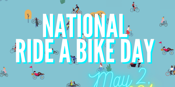 """""""National Ride a Bike Day"""" promo graphic."""